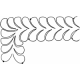 Large Easy Feather Border #30458 by Full Line Stencils