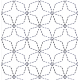 Sashiko Stitch, Angled 7 Treasures #30679 by Full Line Stencils