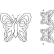 Butterfly Motif & Border #40009 by Full Line Stencils