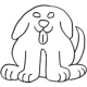 Front Facing Puppy, small #30379 by Full Line Stencils