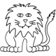 Lion small #30402 by Full Line Stencils