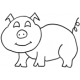 Piggy, small #30381 by Full Line Stencils
