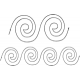 Spiral Border #30480 by Full Line Stencils