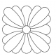 Square Daisy #30587 by Full Line Stencils