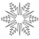 Super Easy Snowflake #30524 by Full Line Stencils