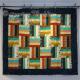 Buddies Strip Quilt Pattern using precut 2 1/2 Inch Strip Fabric a.k.a. Jelly Roll Set square